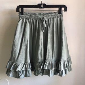 Sea-foam Green Skirt (with pockets!)